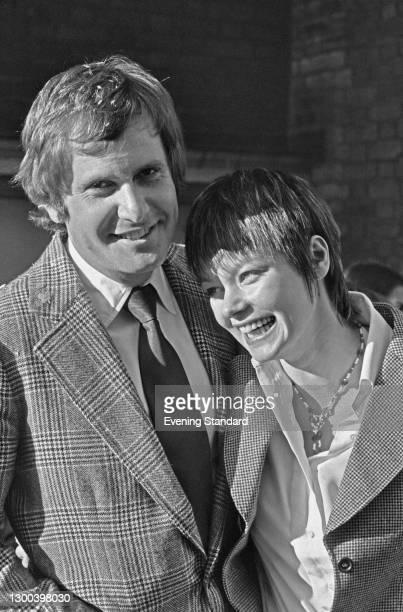 Hungarian-born director Peter Medak with English actress Carolyn Seymour, UK, 9th December 1972. Seymour starred in Medak's 1972 black comedy film...