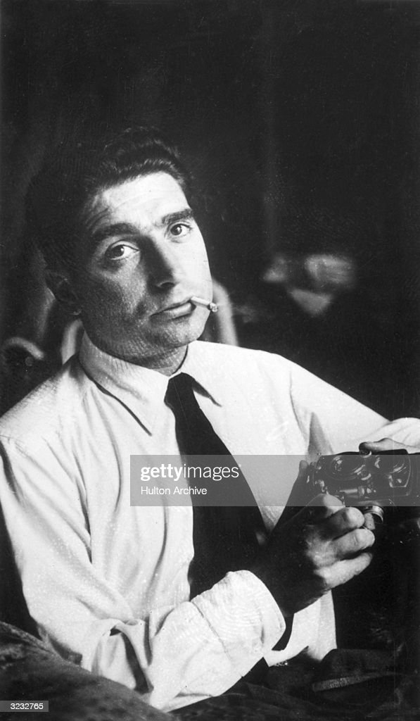 Hungarian-born photojournalist Robert Capa (1913 - 1954).