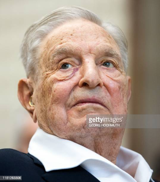 Hungarianborn US investor and philanthropist George Soros receives the Schumpeter Award 2019 in Vienna Austria on June 21 2019 / Austria OUT