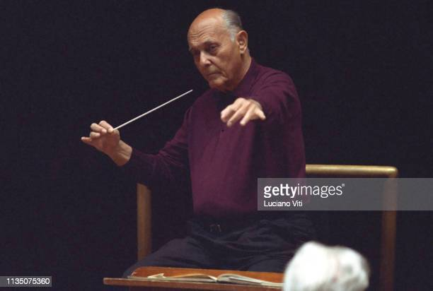 Hungarian-British music conductor Georg Solti, Rome, Italy, 1994.