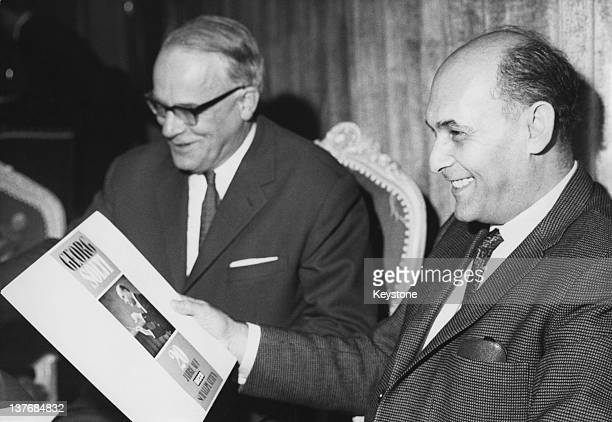 Hungarian-British orchestral and operatic conductor Georg Solti , at a reception given in his honour by his record company, at the Vier Jaherszeiten...