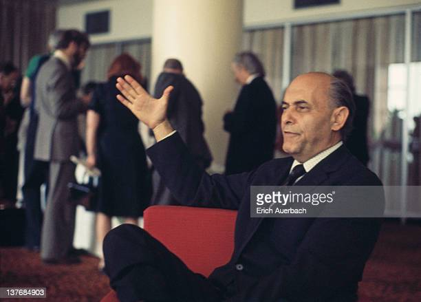 Hungarian-British orchestral and operatic conductor Sir Georg Solti , July 1975.