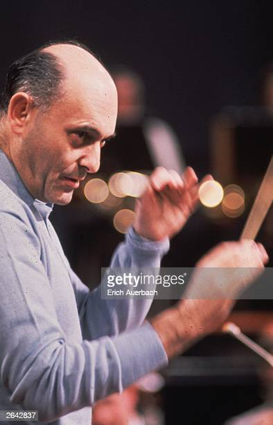 Hungarian-British orchestral and operatic conductor Sir Georg Solti , 1961.