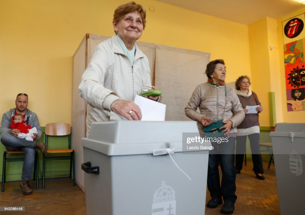 Hungary Holds Parliamentary Elections : News Photo