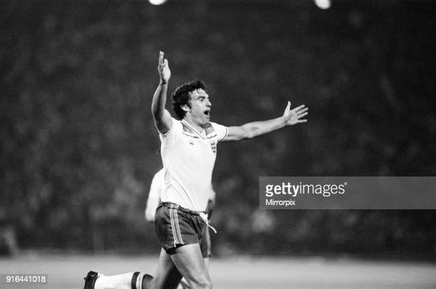 Hungary 1-3 England, Group 4 World Cup Qualifier, match at the Nepstadion, Budapest, Hungary, Saturday 6th June 1981. Trevor Brooking.