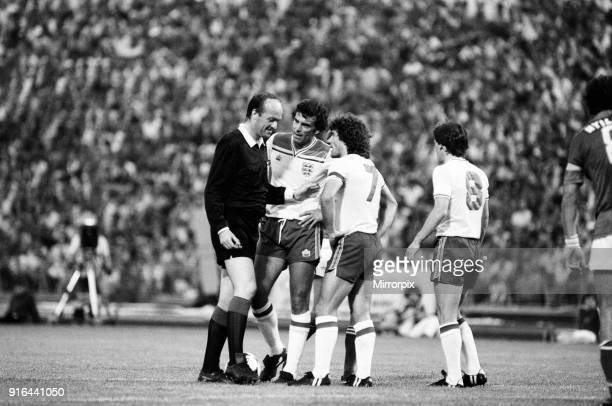Hungary 1-3 England, Group 4 World Cup Qualifier, match at the Nepstadion, Budapest, Hungary, Saturday 6th June 1981. Trevor Brooking & Kevin Keegan.