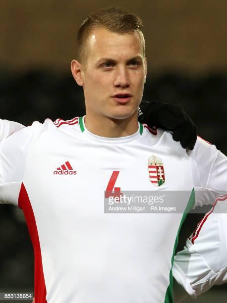 Hungary Adam Lang during the International Friendly at Tannadice Park Dundee