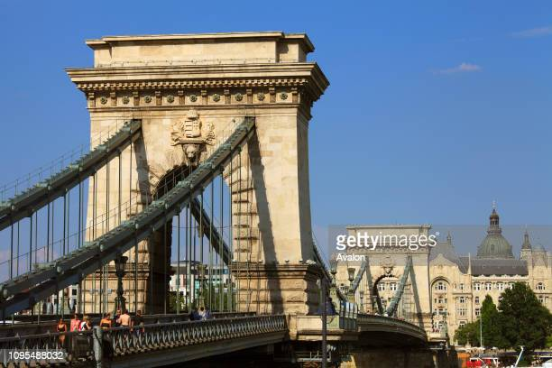 Hungary Budapest Chain Bridge Lanchid