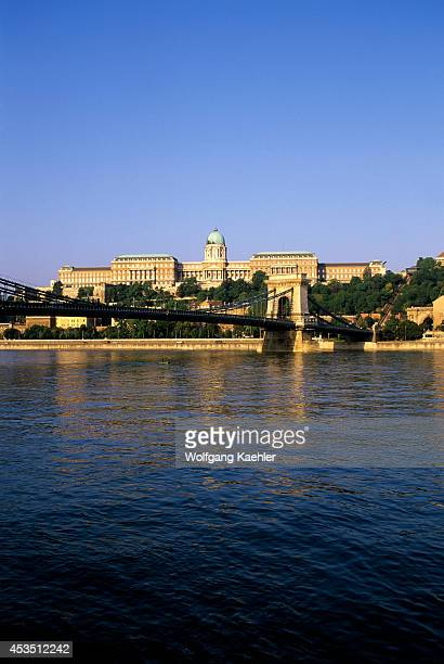 Hungary Budapest Danube River View Of The Palace Of Buda