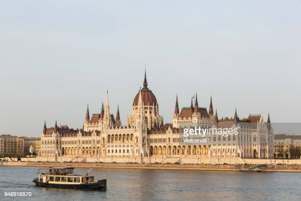 Hungary, Budapest, Hungarian Parliament Building and Danube river