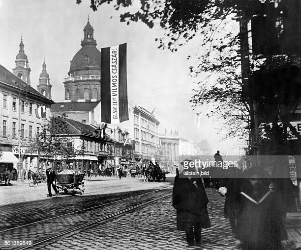 Kaiser Wilhelm Strasse today Small Ring Road St Stephen's Basilica in the background around 1910
