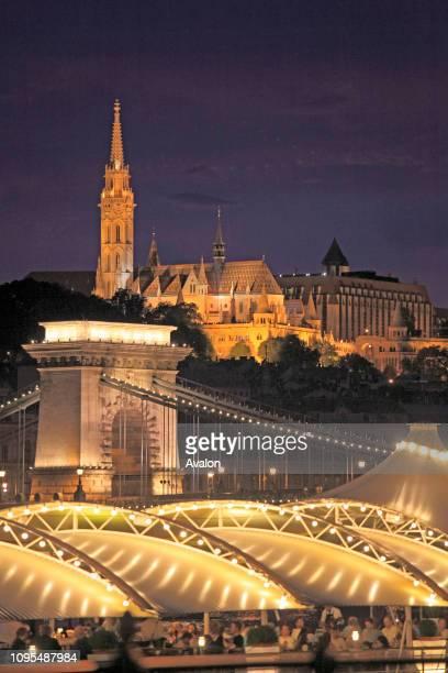 Hungary Budapest Matthias Church Chain Bridge