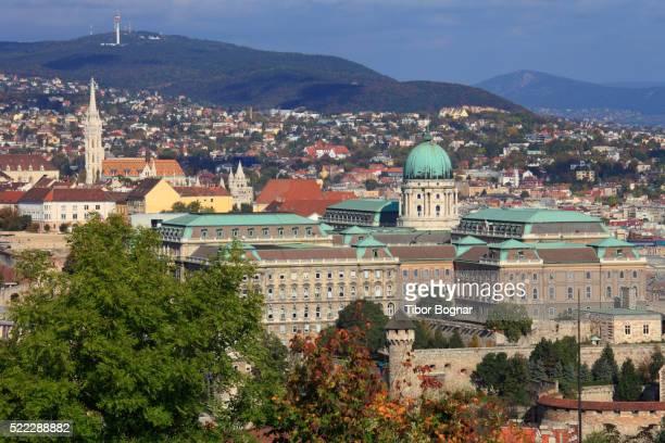 Hungary, Budapest, Royal Palace, Buda skyline,