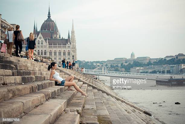 Hungary, Budapest, Tourist in city