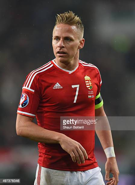 Hungary captain Balazs Dzsudzsak during the UEFA EURO 2016 qualifier playoff second leg match between Hungary and Norway at Groupama Arena on...