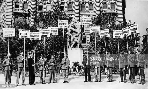 Hungary demands its old borders to Czechia on the Toezsde place where the monument for the lost provinces is Every sign carries the name of one lost...