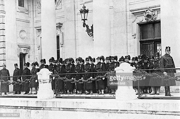 guards of Buda Castle in Budapest probably in the 1910s