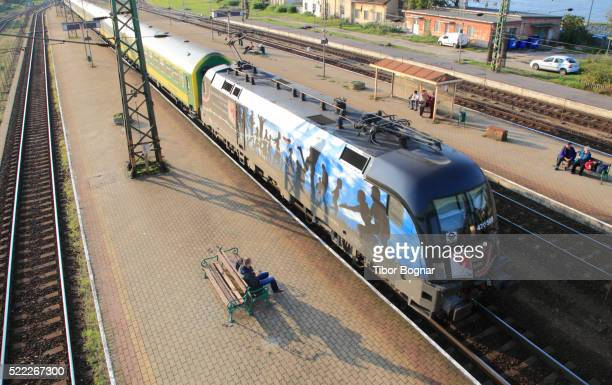 hungary, komarom, train, - traditionally hungarian stock pictures, royalty-free photos & images
