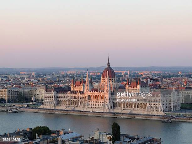 Hungary Parliament House at sunset