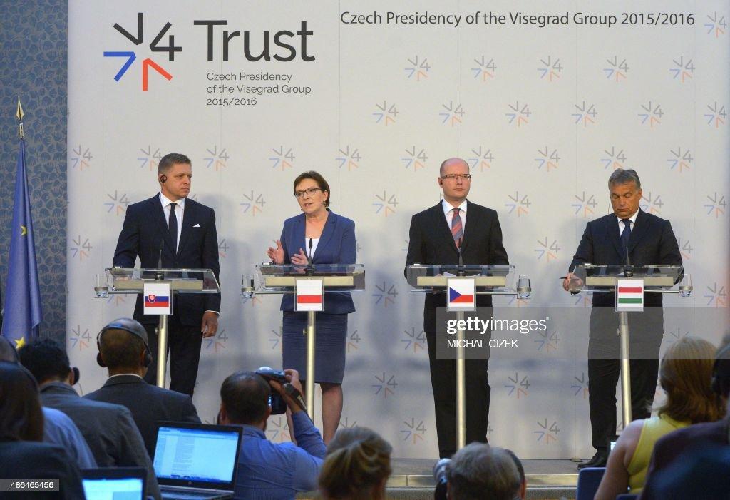 CZECH-EUROPE-VISEGRAD-V4-MIGRANTS : News Photo