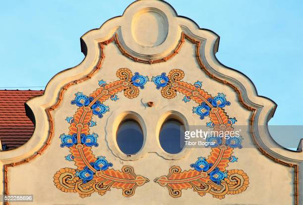 hungary, szeged, art nouveau architecture, - art nouveau stock pictures, royalty-free photos & images