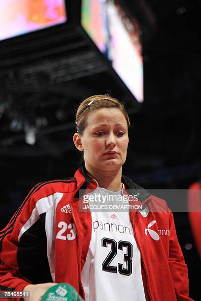 Hungary's Gabriella Szucs leaves after the women world championship handball place 5 to 8 qualifying match France vs Hungary 15 December 2007 at the...