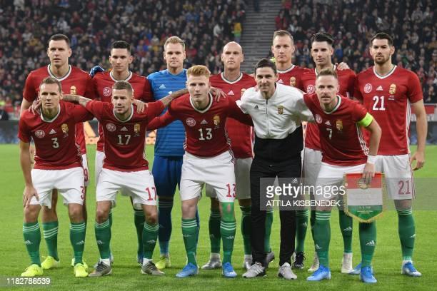 Hungary's national team players, defender Mihaly Korhut, forward Roland Varga, midfielder Zsolt Kalmar and midfielder, midfielder Zoltan Gera,...
