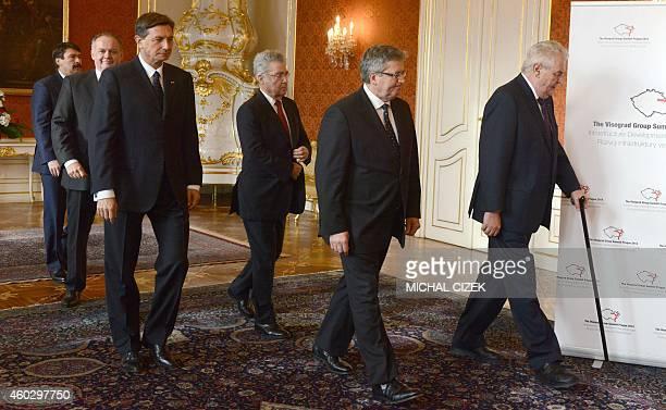 Hungary's President Janos Ader Slovakia's President Andrej Kiska Slovenian President Borut Pahor Austrian President Heinz Fischer Poland's President...