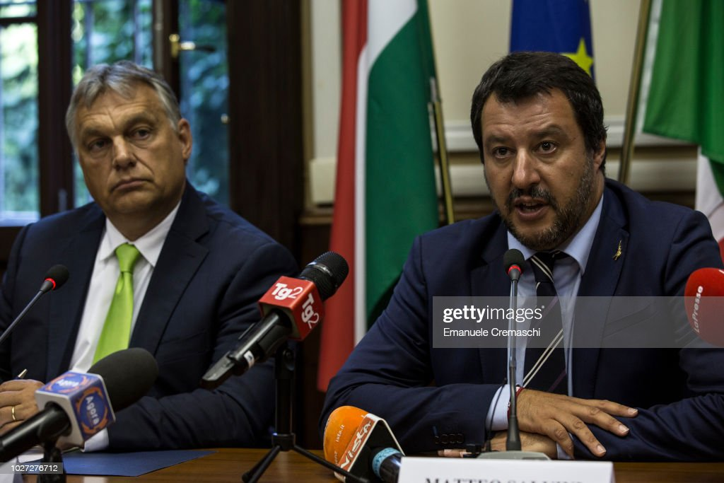 Italy's Minister For Internal Affairs Meets The Hungarian Prime Minister : News Photo