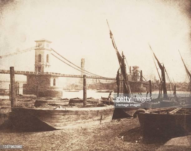 Hungerford Suspension Bridge, circa 1845. Artist William Henry Fox Talbot.