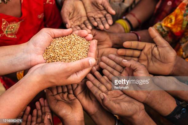 hungry african children asking for food, africa - recession stock pictures, royalty-free photos & images