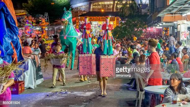 hungry ghost festival in penang, malaysia - hungry ghost festivals in malaysia foto e immagini stock