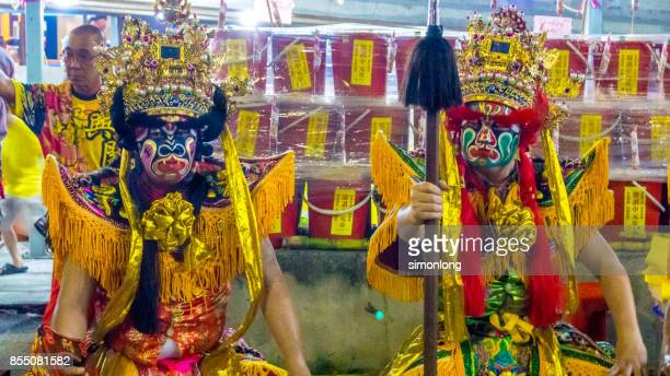 hungry ghost festival in penang, malaysia. - hungry ghost festivals in malaysia foto e immagini stock