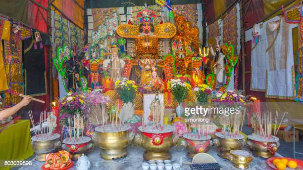 hungry ghost festival,bukit mertajam, malaysia - hungry ghost festivals in malaysia stock pictures, royalty-free photos & images