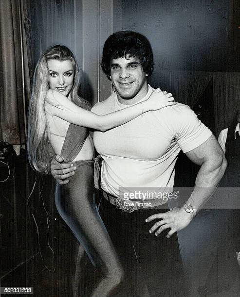 Hunk of Hulk He ain't much ot look at in the TV show the Incredible Hulk but in real life Lou Ferrigno seems to attract the ladies That's Sandra...