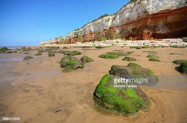 hunstanton coastline - norfolk east anglia - fotografias e filmes do acervo
