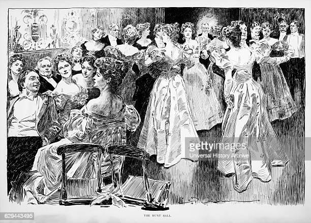 Hunt Ball Charles Dana Gibson Drawing 1895