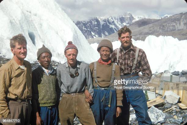 Hunt Da Namgyal Gregory Ang Nyima and Lowe Nepal March 1953 Mount Everest Expedition 1953