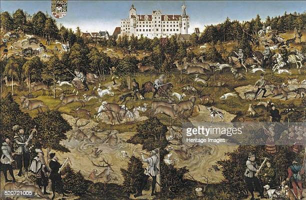 Hunt in Honour of Emperor Charles V at Torgau Castle Found in the collection of Museo del Prado Madrid
