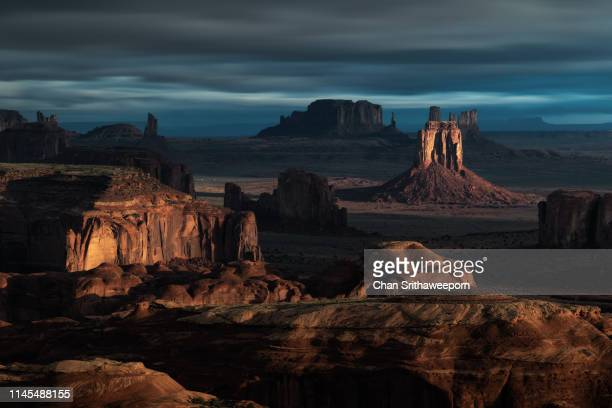 hunt mesa - monument valley tribal park stock photos and pictures