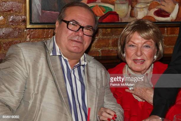 Hunt Slonem and Jacqueline Stone attend Monique van Vooren Hosts a Birthday Party for Jacqueline Stone at Chez Josephine on August 18 2009 in New...