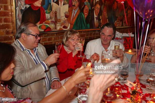 Hunt Slonem Jacqueline Stone and Oliver Stone attend Monique van Vooren Hosts a Birthday Party for Jacqueline Stone at Chez Josephine on August 18...