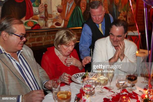 Hunt Slonem Jacqueline Stone Oliver Stone and Monique van Vooren attend Monique van Vooren Hosts a Birthday Party for Jacqueline Stone at Chez...