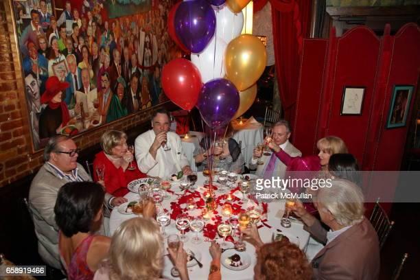 Hunt Slonem Jacqueline Stone Oliver Stone Monique van Vooren Geoffrey Bradfield and Gigi Fisdell attend Monique van Vooren Hosts a Birthday Party for...