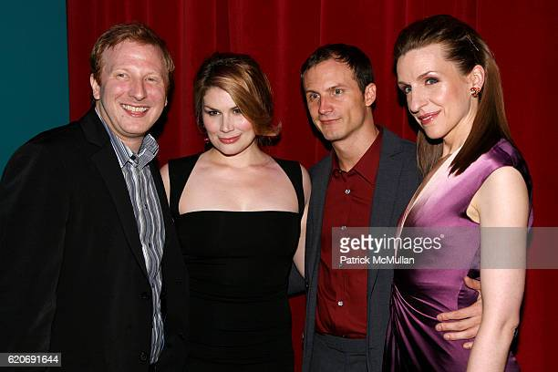 Hunter Bell Heidi Blickenstaff Jeff Bowen and Susan Blackwell attend [TITLE OF SHOW] Opening Night on Broadway at Lyceum Theatre on July 17 2008 in...