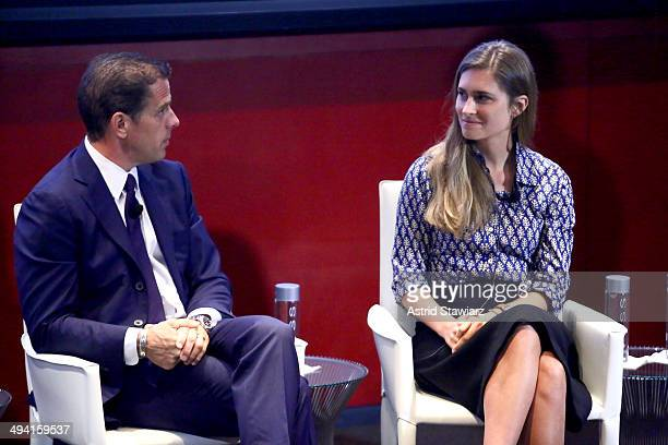 Hunter Biden and Lauren Bush Lauren speak at the TC Philanthropy Summit with screening of Generosity Of Eye at Lincoln Center with Town Country on...