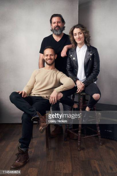 Hunter Burke Brian C Miller Richard and Teri Wyble of the film 'Lost Bayou' poses for a portrait during the 2019 Tribeca Film Festival at Spring...