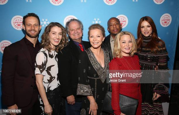 Hunter Burke Teri Wyble Ritchie Montgomery Cheryl Ladd Antwon Tanner Jordan Ladd and Danneel Ackles attend the VIP opening night of the lifesized...