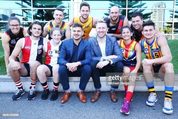 Hunter Clark Georgia Ricardo Brede Seccull Emma Kearney Jess Dal Pos Michael Taplin Marcus Thompson Nelson Browne Ted Lindon pose during a We Are...