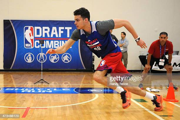 J Hunter completes a shuttle run drill during the 2015 NBA Draft Combine on May 14 2015 at Quest Multiplex in Chicago Illinois NOTE TO USER User...